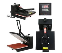 Black Digital Clamshell Heat Press Transfer