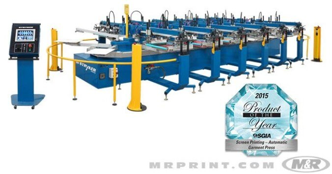 M&R Stryker Automatic Oval Screen Printing Press