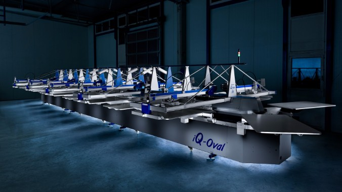 MHM IQ-Oval Compact - automatic screen printing machine