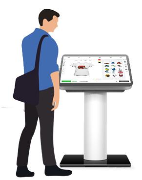 online kiosk design software for t-shirt
