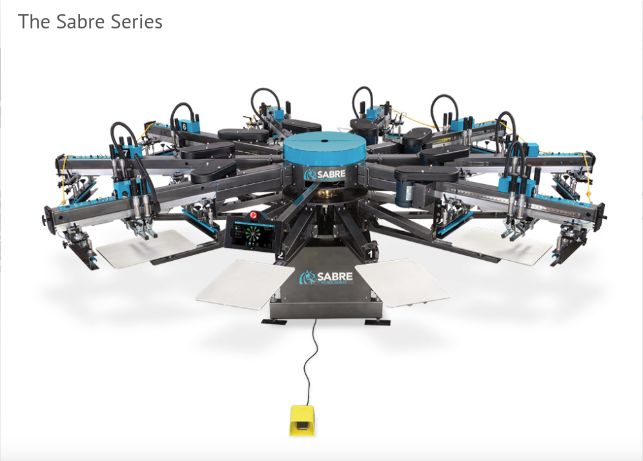 Workhorse- The Sabre Series - automatic screen printing machine