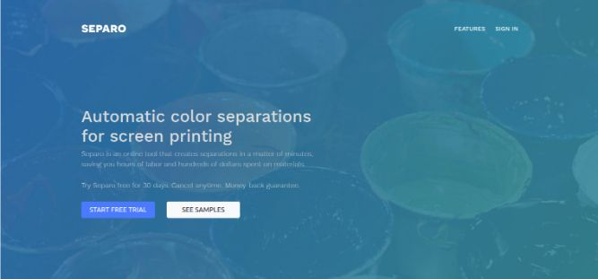 separo.io- Automatic color separations for screen printing