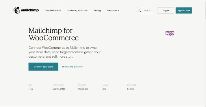 Mailchimp for WooCommerce - Email marketing solution for Woocommerce