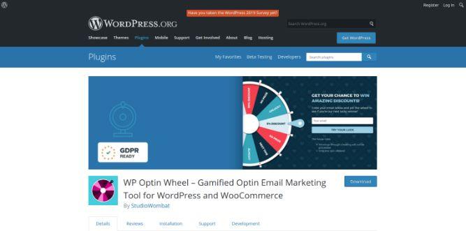WP Optin Wheel - Email marketing tool for Woocommerce and WordPress