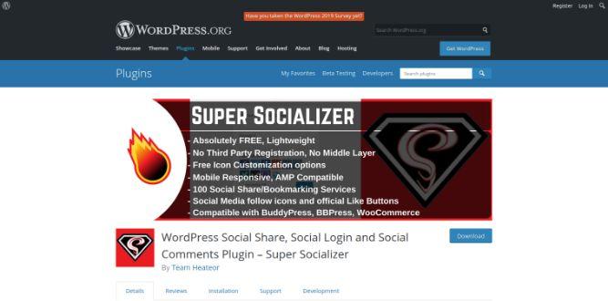 Super Socializer Plugin - Woocommece apps