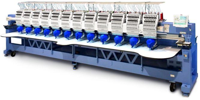 Happy's multi-head Embroidery Machine