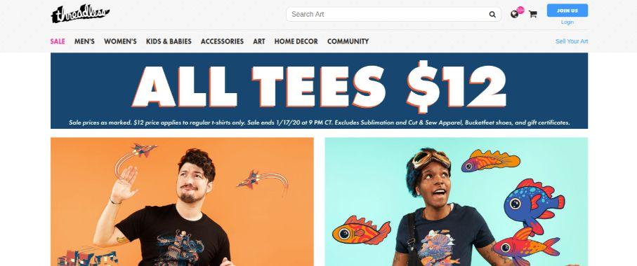 Threadless - custom tees, web2print ecommerce business