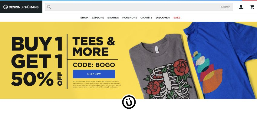 Design by Humans - custom tees of all brands