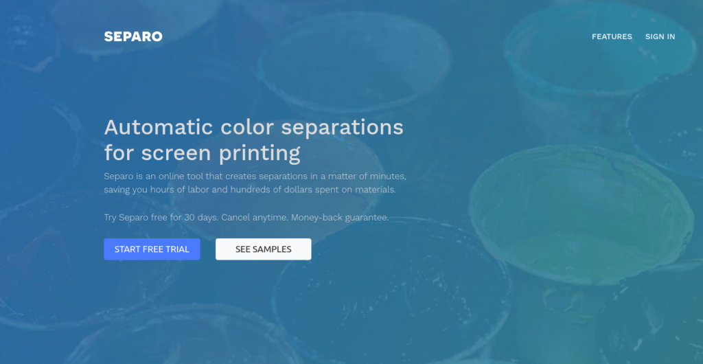 Separo - Automatic color separations for screen printing
