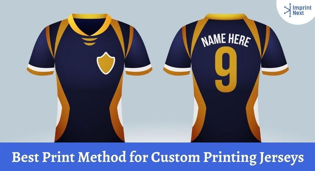 Best Print Method for Custom Printing Jerseys