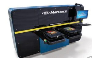 M&R Maverick industrial dtg printer, t-shirt printing machine, t-shirt printer